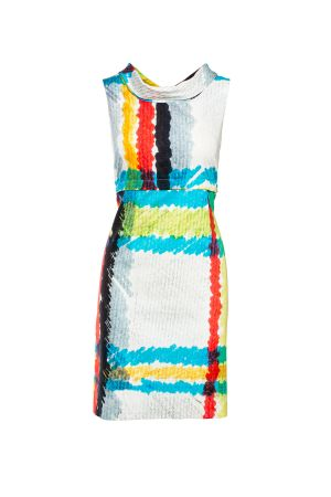 DIVISIBLE-DRESS WHITE L-MADRAS  SATEEN COTTON 00