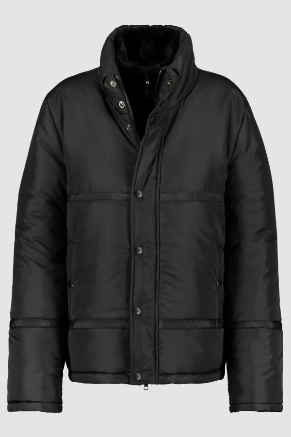 DOWN JACKET WITH PLUCKED MINK