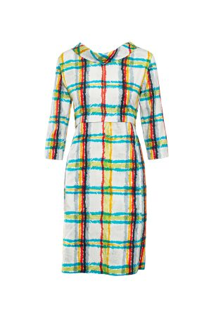 DIVISIBLE-DRESS WHITE S-MADRAS  SATEEN COTTON 21