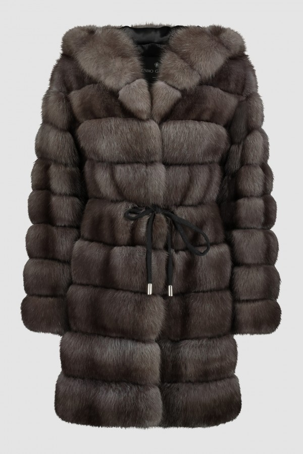 HOODED RUSSIAN SABLE COAT