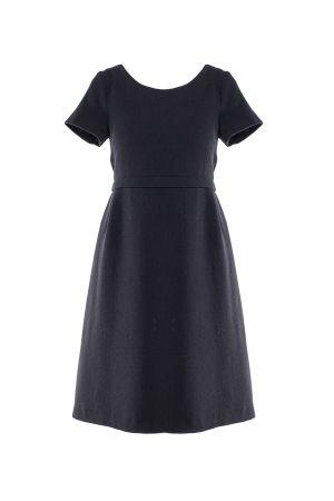 DIVISIBLE-DRESS BLACK  WOOL CREPE 11