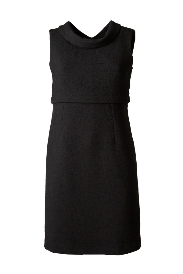 DIVISIBLE-DRESS BLACK DOUBLE WOOL CREPE 00