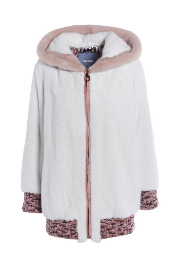 404 Mink Jacket with Wool trim
