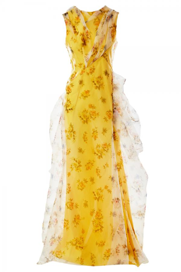 DELICATE YELLOW FLORAL DRESS