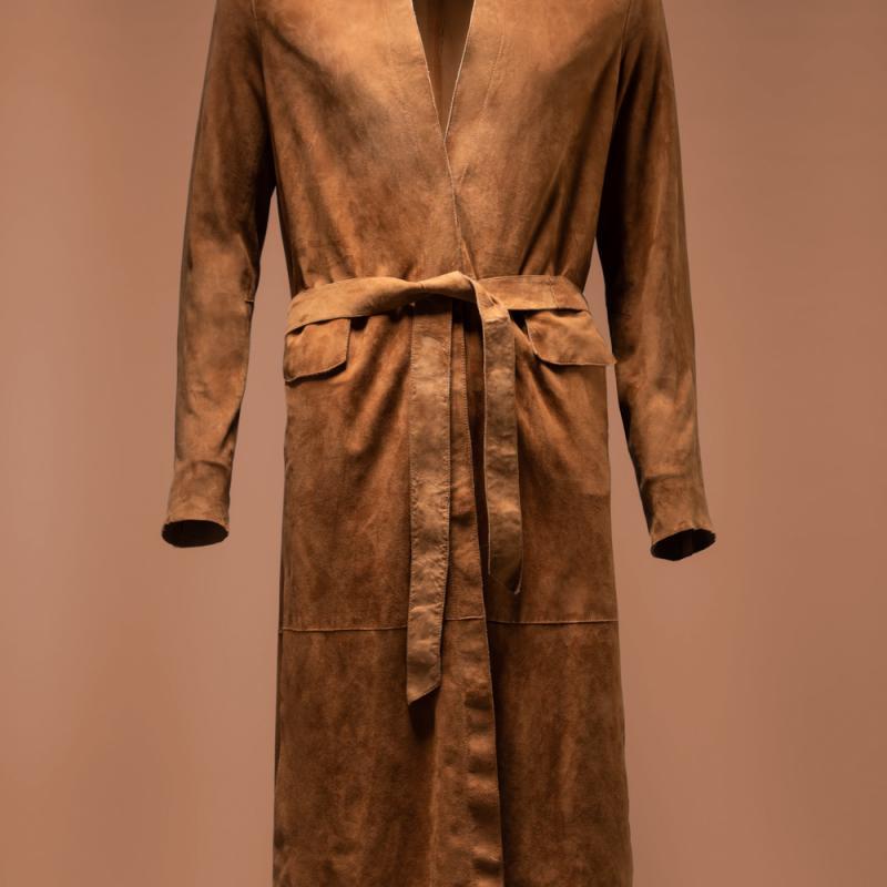 suede coat H001