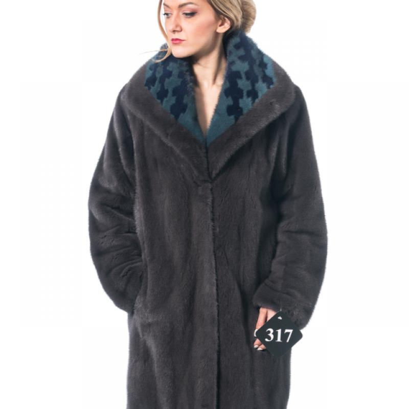 Irongate Mink Coat & Shawl Collar