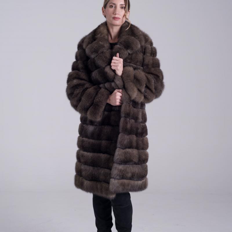 Fur coat in Sable