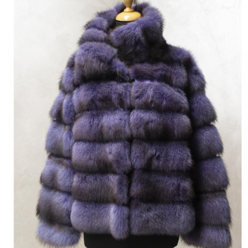 Wisteria-coloured marten jacket with python inlay.