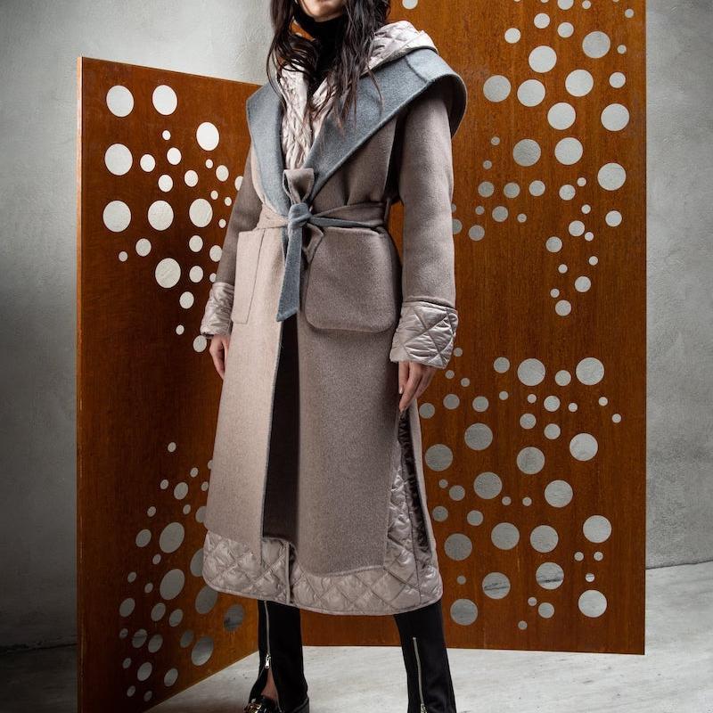 cachemire double coat L924 + nylon jacket L251