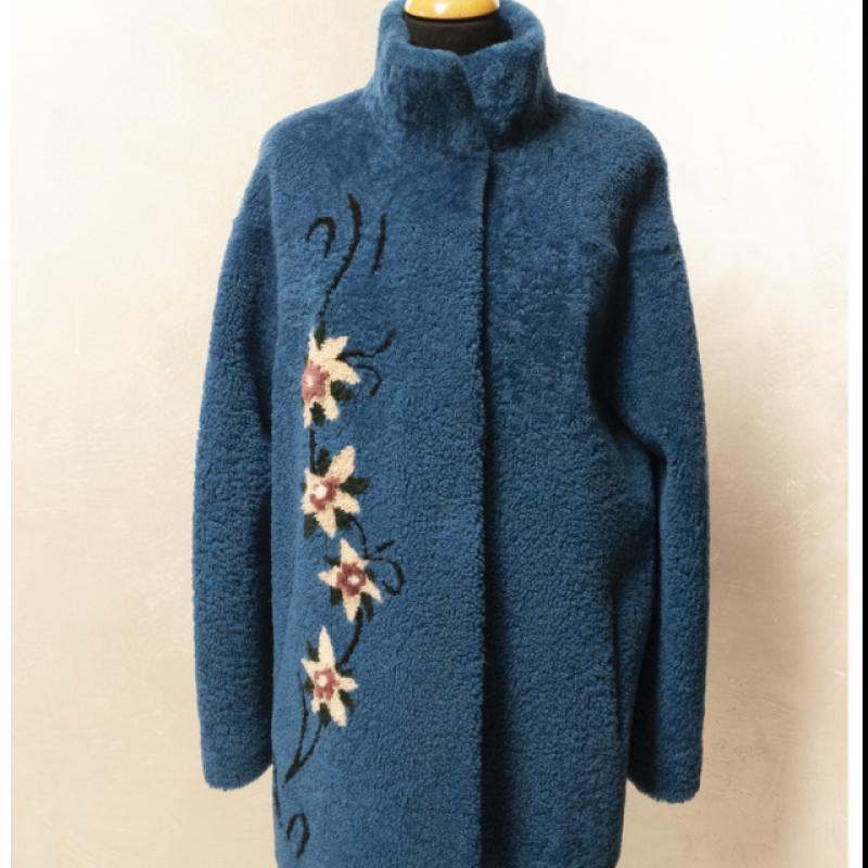 Ultramarine blue sheepskin