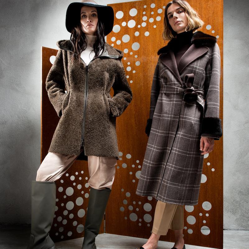 shearling parka L010 - cachemire double coat  L915