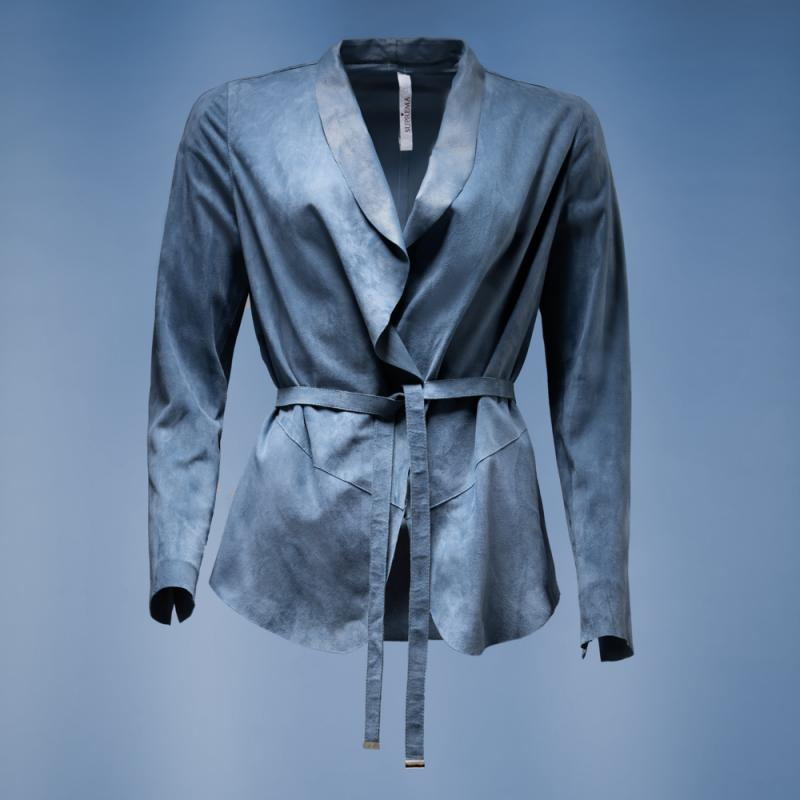 suede jacket H004