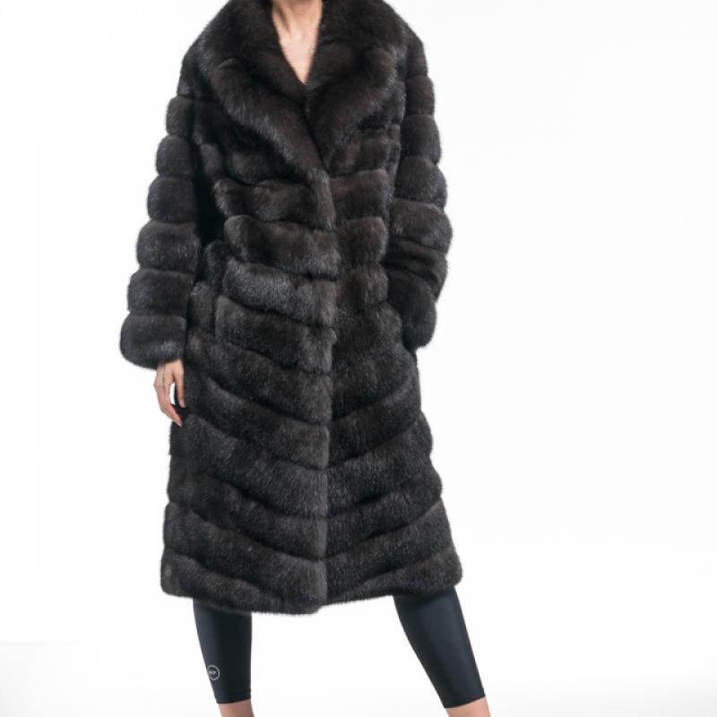 Russian Sable Notched Collared Coat