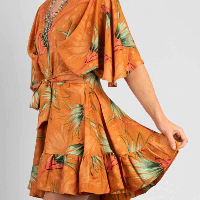 AMBERGLOW ORANGE DRESS