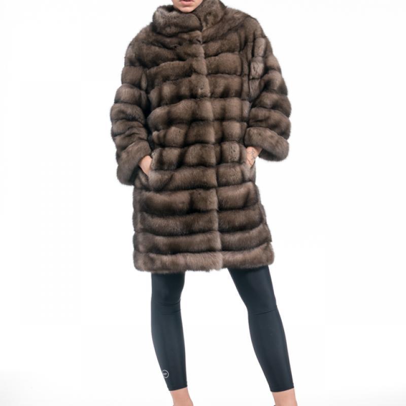 Tortora Russian Sable Half Coat