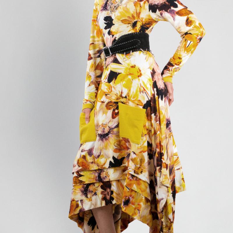 YELLOW SUNFLOWERS DRESS