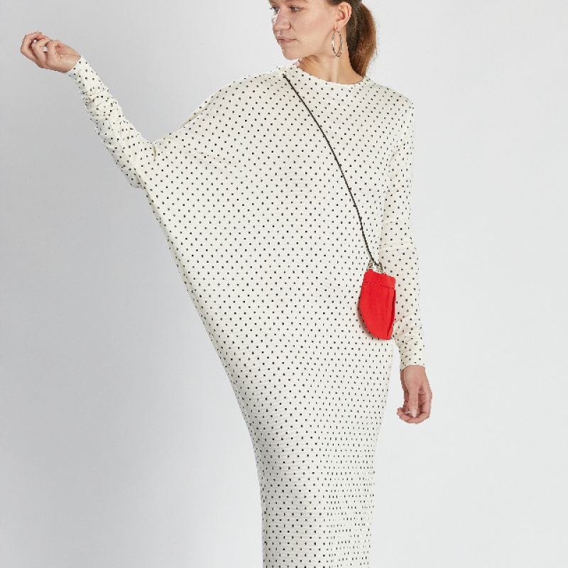 WHITE SPARKLING SILHOUETTE DRESS