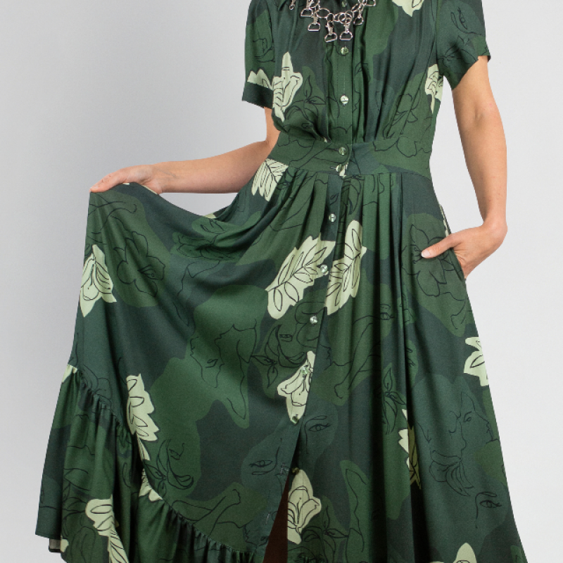 FLORAL EMERALD DRESS