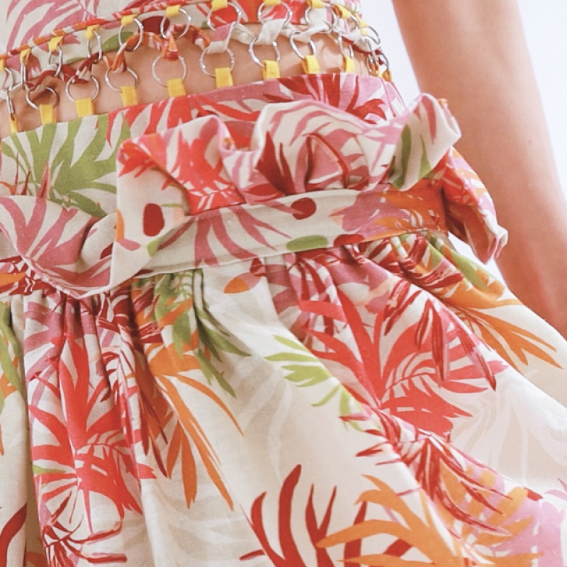 TROPICAL CORAL DRESS