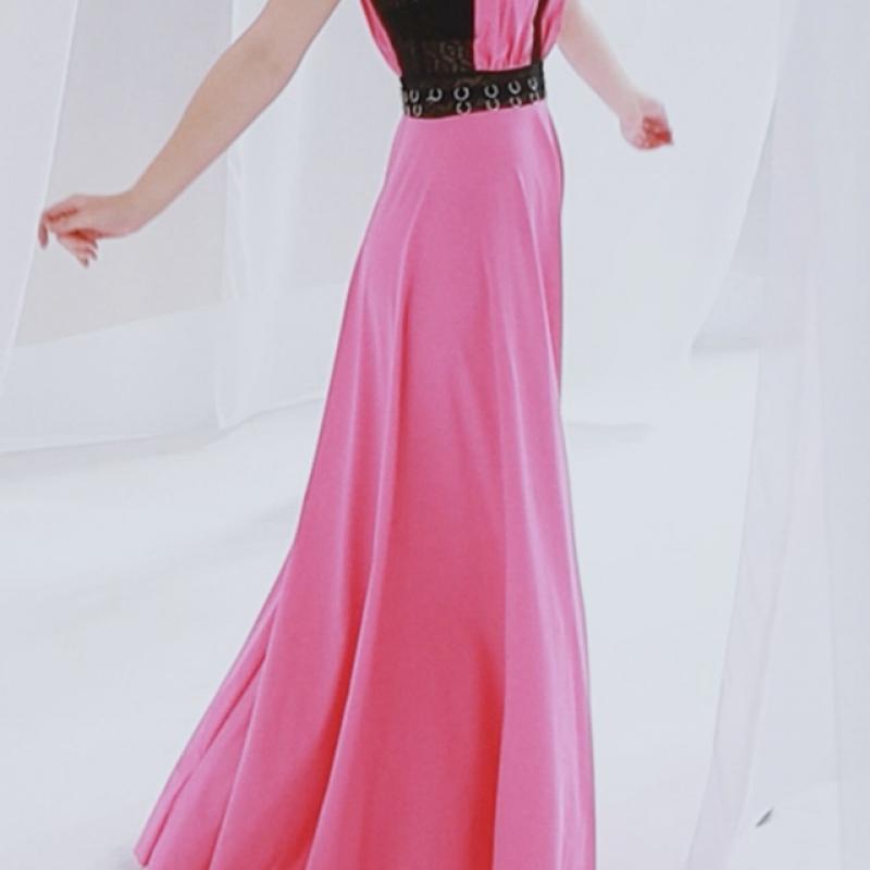 FUCHSIA ROSE DRESS