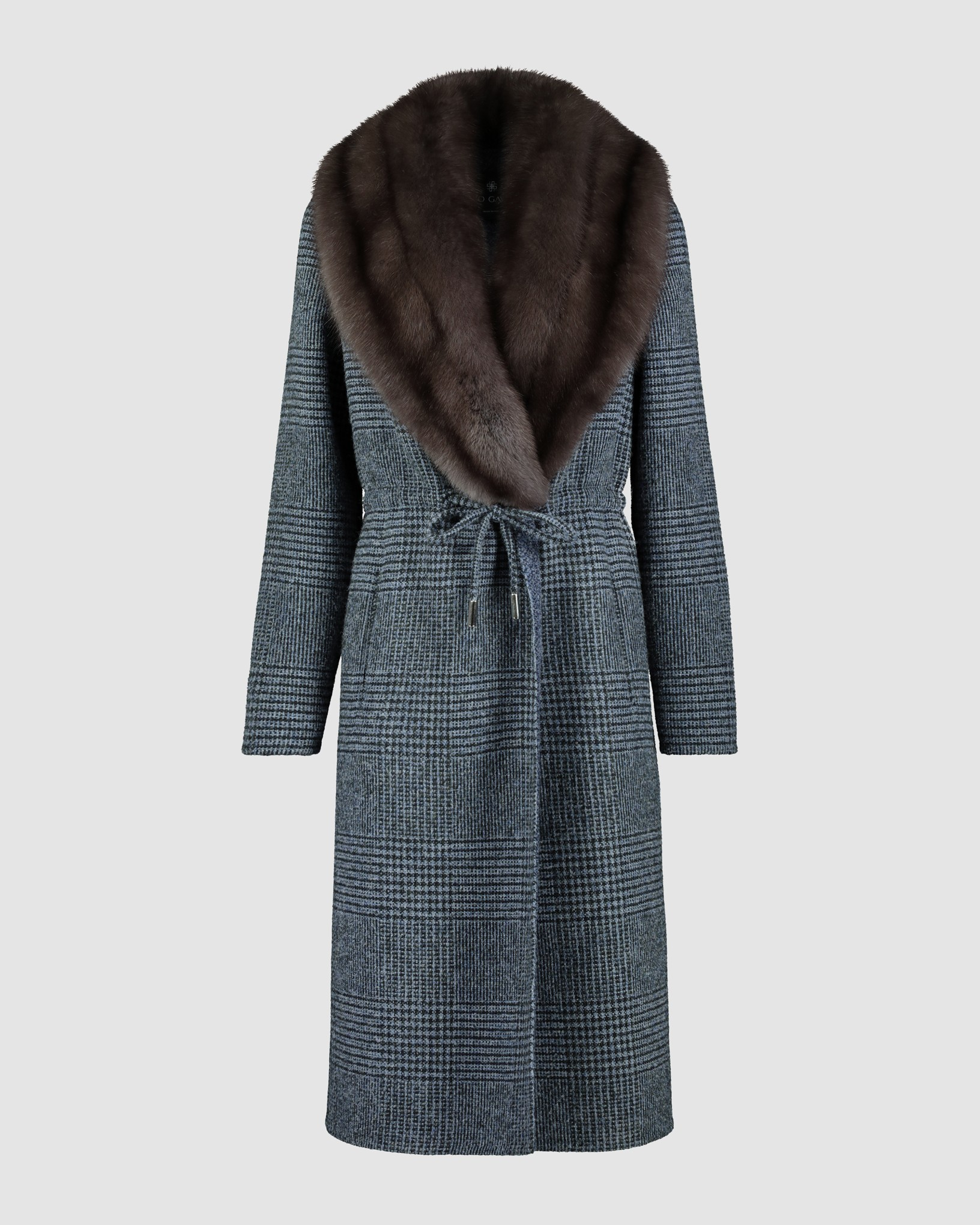 ALPACA BLEND COAT WITH RUSSIAN SABLE