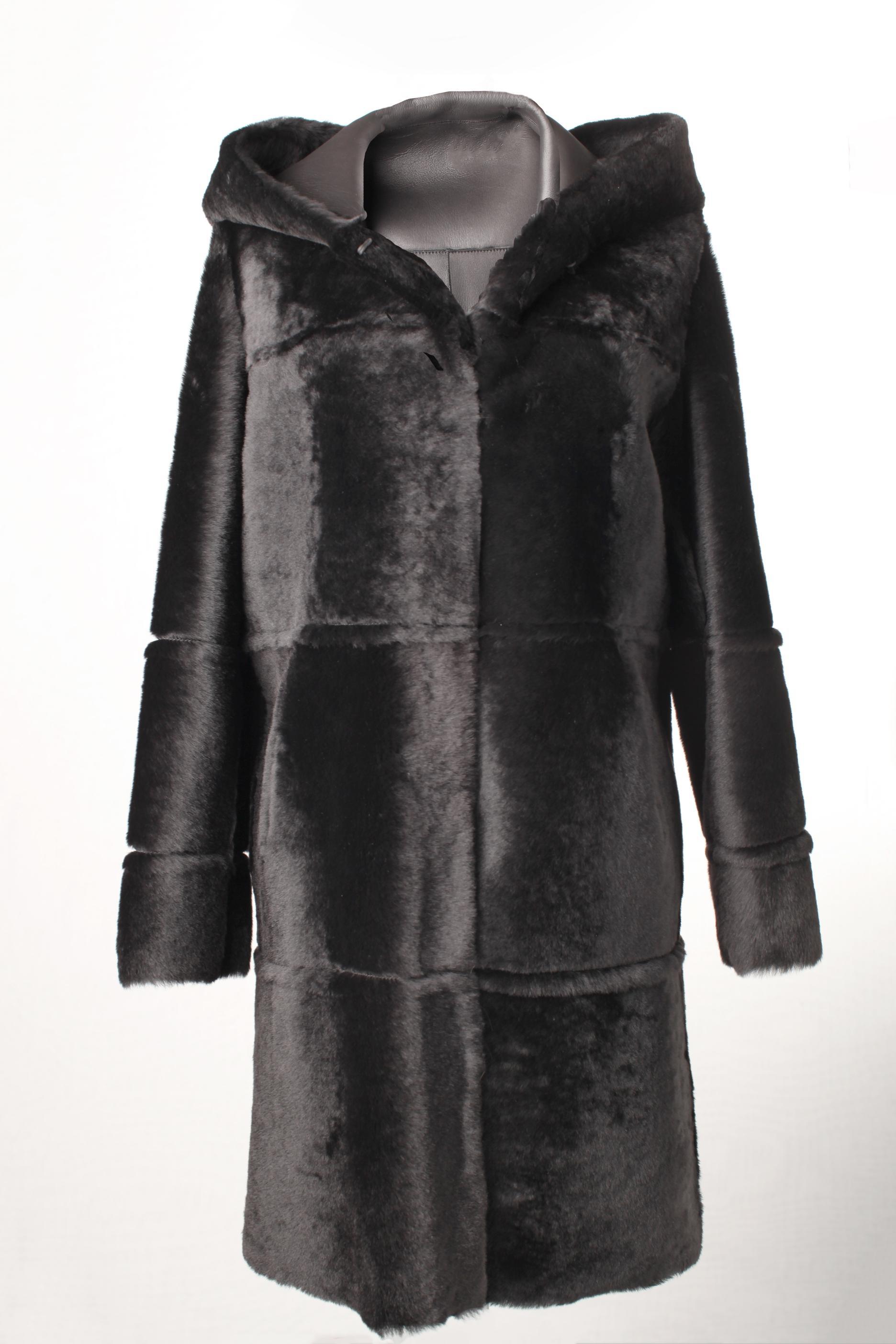 Reversible ironed lacon black silky 93cm
