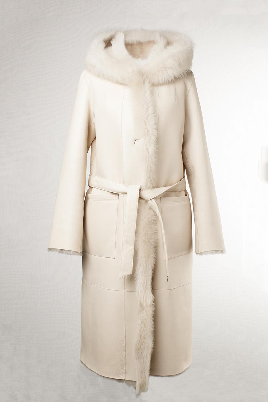 Reversible ironed lacon & toscana angora silky 108cm
